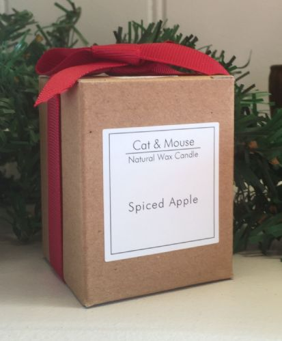 Scented Candle  9cl in a Gift Box - Spiced Apple